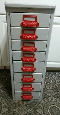 Vintage 8 Drawer Machinists File Cabinet Or Library Watchmaker Etc...........
