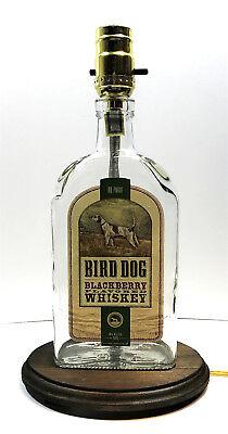 BIRD DOG BLACKBERRY WHISKEY Liquor Bottle TABLE LAMP Light w/ Wood Base Lounge