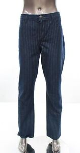 Tommy Hilfiger NEW Denim Pinstriped Women's Size 14 Straight Leg Jeans $79