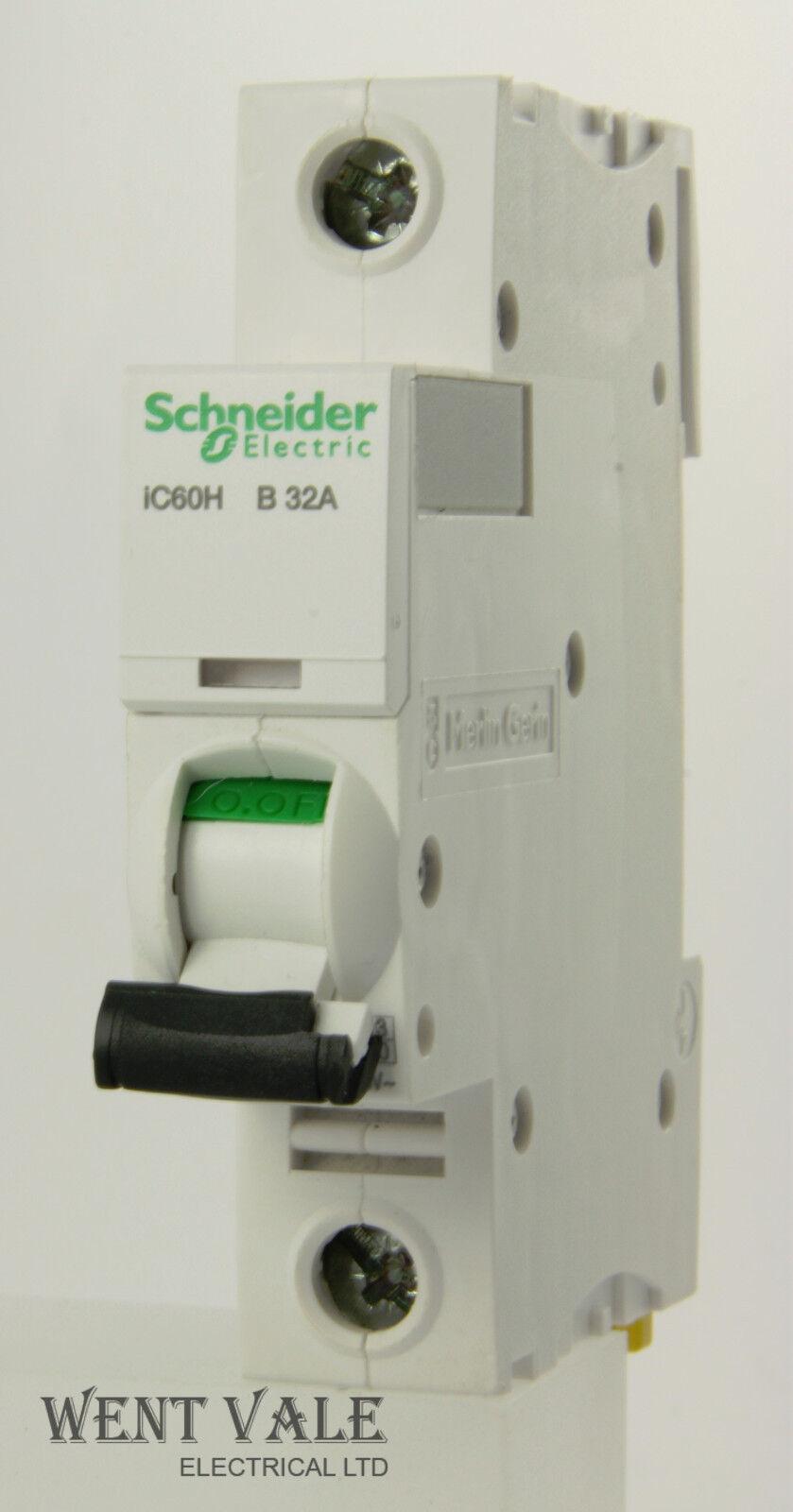 Schneider Acti 9 - A9F53132 - 32a Type B Single Pole MCB Latest Model Unused