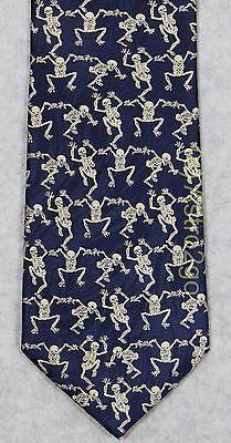 DANCING SKELETONS BONES HALLOWEEN GRATEFUL DEAD Museum Artifacts Silk Necktie - Dancing Skeletons Halloween