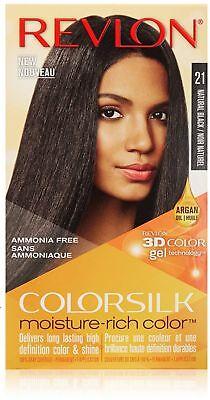 Moisturizing Black Hair - Revlon Colorsilk Moisture Rich Hair Color, Natural Black [21] 1 ea (Pack of 9)