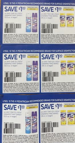 LYSOL Coupons ,  - $2.50