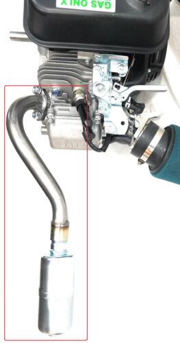 Center Rear Exhaust With Muffler for: Predator 212cc, Honda GX160,GX200,  DuroMa