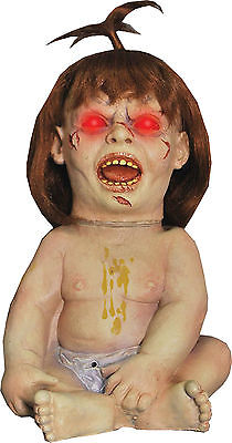 HALLOWEEN PRIZED POSSESSION ANIMATED BABY ZOMBIE POSSESSED PROP - Zombie Baby Decoration