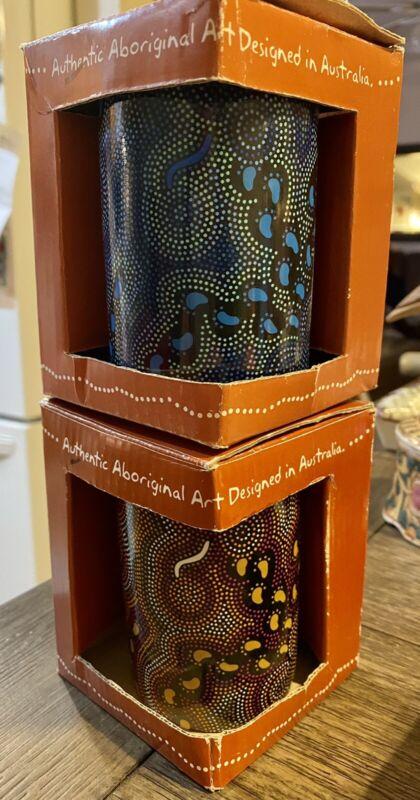 On Walkabout Karen L Taylor Tea Cup Coffee Mug Aboriginal ~ AUSTRALIA