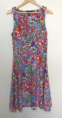 Lauren Ralph Lauren Dress Tank Floral M Medium Colorful Multi Color