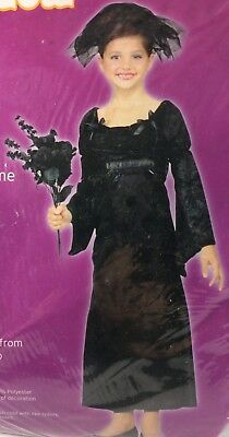 Girls Black Widow Witch Halloween Costume Size Medium 8-10 New