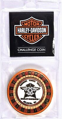 Spinning Roulette Wheel (HARLEY DAVIDSON Atlanta GA Challenge Coin Spinning Roulette Wheel Thunder Tower )