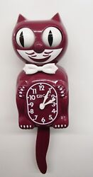 LIMITED EDITION BURGUNDY KIT CAT MADE IN THE USA (FREE BATTERIES) BC-36