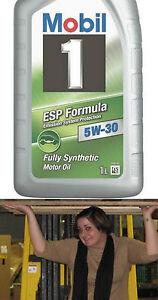 Mobil 1 5W30 ESP Synthetic Oil - twelve-pack of 1 Liter bottles