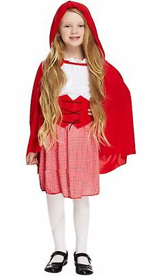 Girls Little Red Riding Hood Fancy Dress Up Costume Outfit Ages 4-12 yrs NEW (Little Girl Dress Up Kostüme)