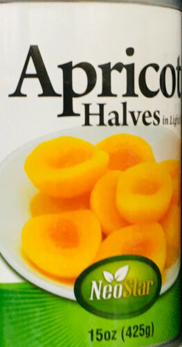 6 Cans NeoStar Apricot Halves In Light Syrup 15oz ~ FAST FREE EXPEDITED SHIP ! ~