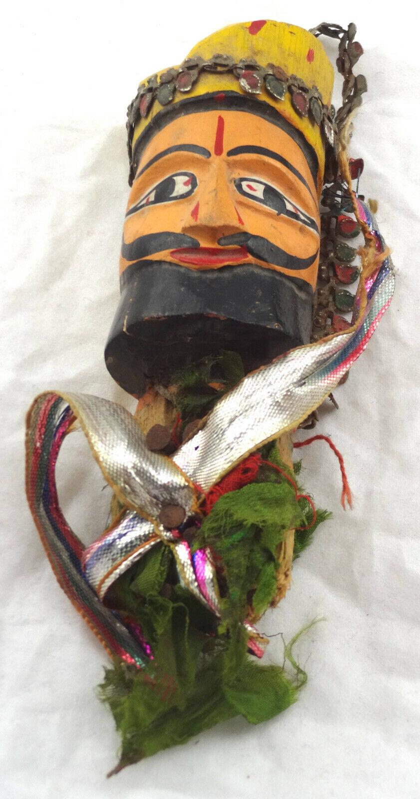 WayangGolek Puppenkopf von Stabpuppe Theaterpuppe Java, Indonesien 13cm