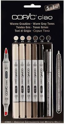 COPIC CIAO Marker 5+1 Set 22075565 GRAUTÖNE Multiliner Markerset für Einsteiger
