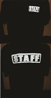 SMART STAFF T-SHIRT GLOW IN THE DARK WITH HAT NEW Guard Officer Bouncer