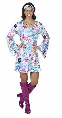 Kostüm Hippie Kleid Partykleid 70er Jahre Boho Blumen - Kostüm Blume