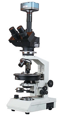 Trinocular Polarizing Microscope Bertrand Lens - 1 14 Retarder W 5mp Camera