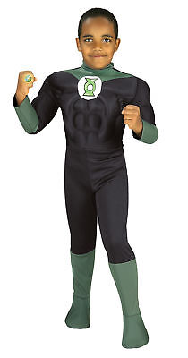 Green Lantern Muscle Chest Child Costume Boy Toddler Justice League Halloween