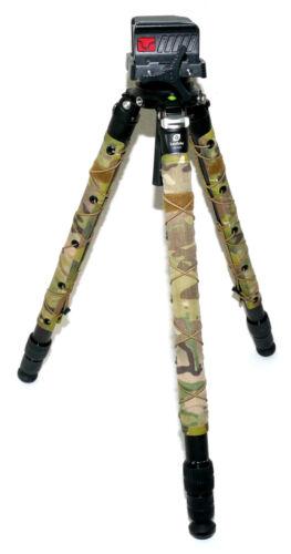 Leofoto LM-323C Carbon FiberTripod + BOG DeathGrip Ultralite Rifle Cradle - MINT