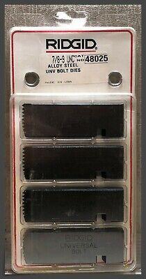 Ridgid 48025 Replacement Universal Bolt Dies - 78-9 Unc - Alloy Steel - Rh