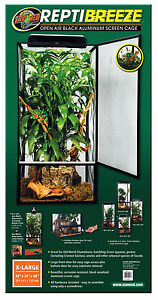 Zoo Med ReptiBreeze Screen Cage Extra Large 61x61x122cm Chameleon Mesh Flexarium