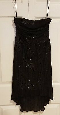 EXPRESS BLACK SLEEVELESS FANCY PARTY COCKTAIL DRESS SIZE 4 WOMEN'S - Express Fancy Dress