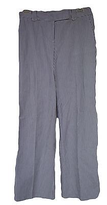 ANN TAYLOR LOFT Sze 0  Gray White Striped Cotton Pants  NWT $59