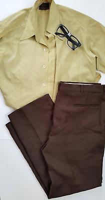 *HALLOWEEN* SUPER NERD Mens Medium Large Pants Shirts Glasses LOT Top Vintage - Nerd Pants Costume