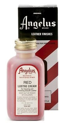RED Lustre CREAM CLEANER & POLISH Conditioner Leather shoes boots luster ANGELUS