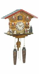 Quartz Cuckoo Clock Swiss house with music TU 449 QM HZZG NEW