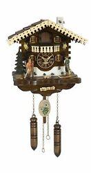 Quartz Cuckoo Clock Swiss house with music TU 4275 QM HZZG NEW