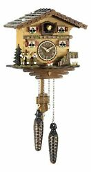 Quartz Cuckoo Clock Swiss house with music TU 458 QM NEW