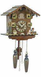 Quartz Cuckoo Clock Swiss house with music TU 414 QM NEW