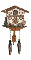 Quartz Cuckoo Clock Swiss house with music TU 485 QM NEW