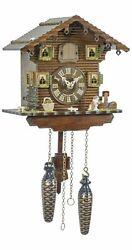 Quartz Cuckoo Clock Swiss house TU 414 Q NEW