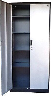 Metal Garage Storage Cabinet Tool Box Steel Chemical Wall Locker 6ft Shelves New