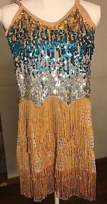 Ballroom Dance wear Latin Rumba Cha Cha Performance Dress for GIRL S-size - Ballroom Dresses For Girls