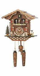 Quartz Cuckoo Clock Swiss house with music, turning dance.. TU 4209 QMT HZZG NEW