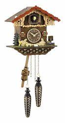 Quartz Cuckoo Clock Swiss house with music TU 456 QM NEW