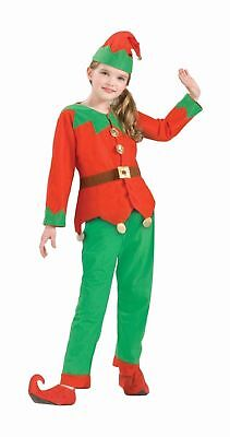Simply Elf Child Costume Size 6-10 Christmas Accessory Boys Girls Hat Pants Top - Kids Elf Costumes