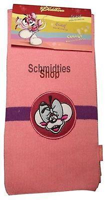 Diddl - Diddlina Strickschal rosa mit Streifen