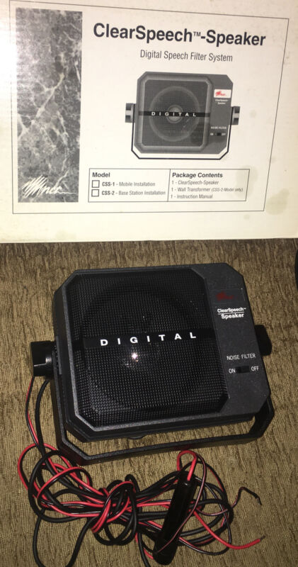 AM-COM CLEAR SPEECH SPEAKER CSS-1 DSP NOISE REDUCTION SPEAKER Used In Box