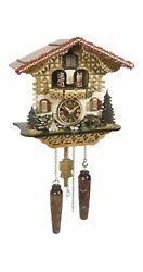 Quartz Cuckoo Clock Swiss house with music, turning dance.. TU 4229 QMT HZZG NEW