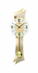 Modern wall clock with quartz movement from AMS AM W7427 NEW