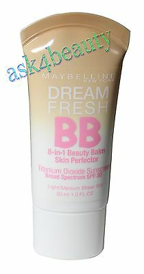 Maybelline Dream Fresh BB Cream 8-in-1 Beauty Balm Light/Medium 1.0oz N&U