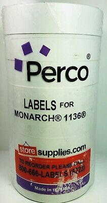 Perco 1136 Sell By Labels Monarch Price Gun 8 Rolls Total In Pack New In Seal