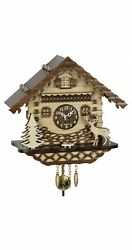 Kuckulino Black Forest Clock Black Forest House with quartz mov.. TU 2064 PQ NEW