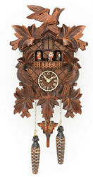 Quartz Cuckoo Clock with music 7 leaves, 3 birds TU 377 QMT NEW