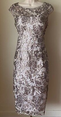 Adrianna Papell Floral Sequin Embroidered Sheath Dress NWT Size 6, 8, 10